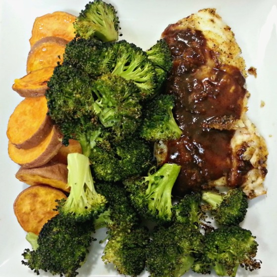 Sizzlefish Atlantic Cod Broccoli Sweet Potato
