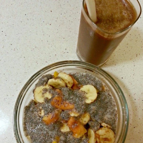 Banana Mango Papaya Chia Seeds Coffee Silk Cashew Milk