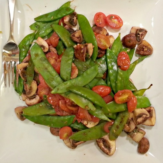 Mushrooms Snow Peas Tomatoes