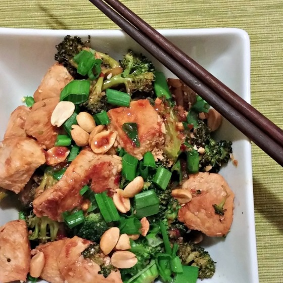Asian Chicken Broccoli Peanuts