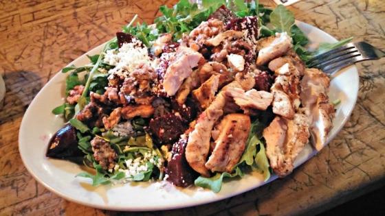 Catos Ale House Beet Salad Feta Chicken