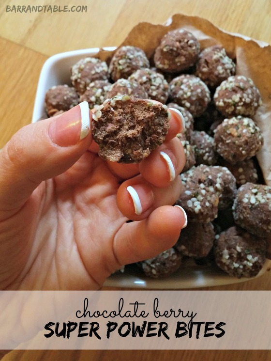 Chocolate Berry Super Power Bites | Barr & Table