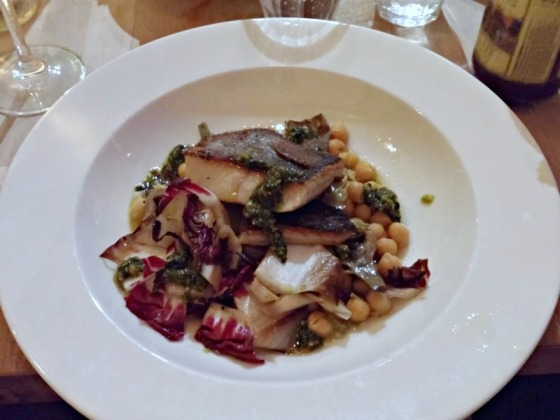 Homestead Oakland Black Cod Garbanzo Beans Almond Pesto