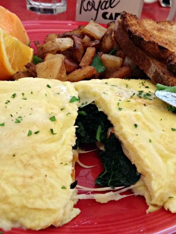 Mamas Royal Cafe Oakland Sweet Potato Kale Gruyere Omelette