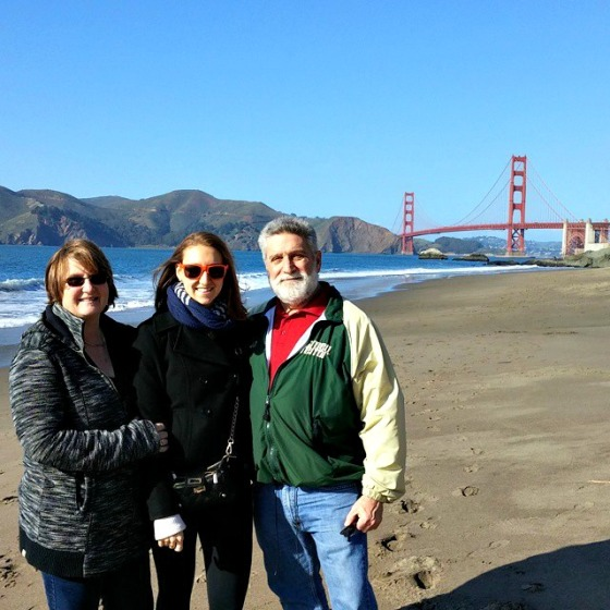 Mom Dad Brittany Baker Beach Golden Gate Bridge
