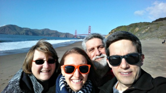 Mom Dad Nathan Brittany Golden Gate Bridge Baker Beach