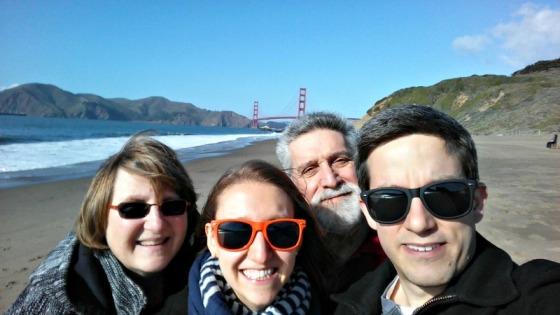 Mom Dad Nathan Brittany Golden Gate Bridge Baker Beach