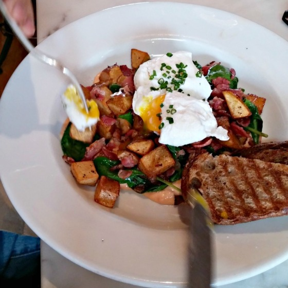 Southie Oakland Corned Beef Hash Poached Eggs