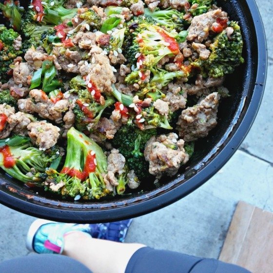 Cashew Chicken Ground Turkey Broccoli Sriracha