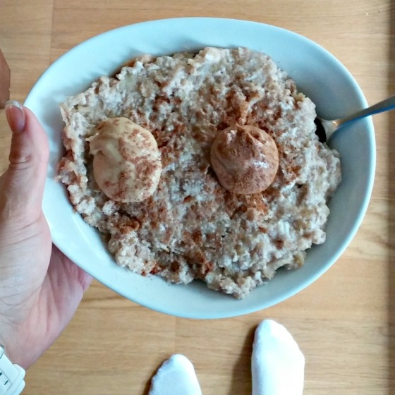 Protein Oatmeal Egg White Oats Peanut Almond Butter Cinnamon Banana