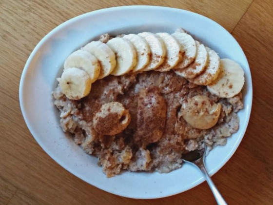 Protein Oats Egg White Oatmeal Cashew Almond Peanut Butter Banana