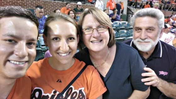 Mom Dad Nathan Brittany Baltimore Orioles